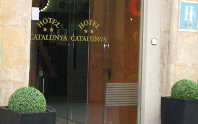 Отель Cataluña Барселона вид на фасад