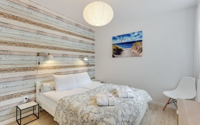 Апартаменты Lion Apartments - La Playa Сопот вид на фасад