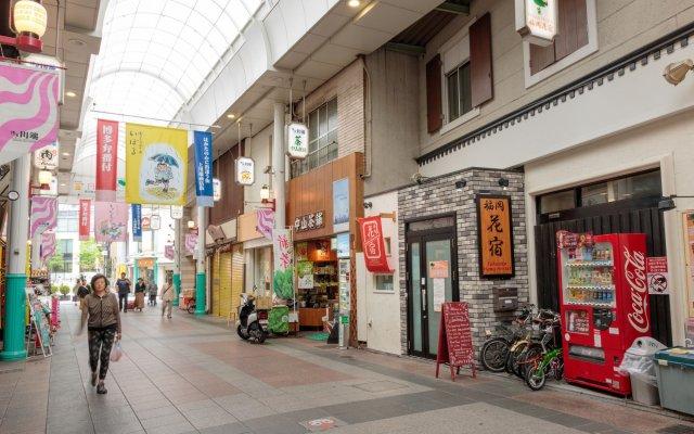 Fukuoka Hana Hostel Хаката вид на фасад