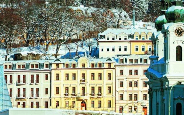 Отель Wellness Hotel Jean De Carro Чехия, Карловы Вары - отзывы, цены и фото номеров - забронировать отель Wellness Hotel Jean De Carro онлайн вид на фасад