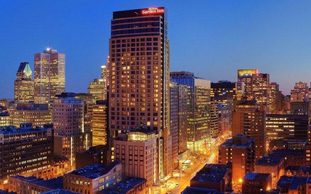 Отель Hilton Garden Inn Montreal Centre-Ville Канада, Монреаль - отзывы, цены и фото номеров - забронировать отель Hilton Garden Inn Montreal Centre-Ville онлайн вид на фасад