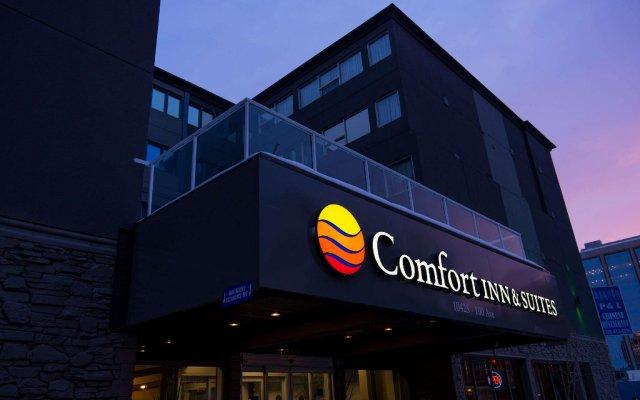 Отель Comfort Inn & Suites Downtown Edmonton вид на фасад