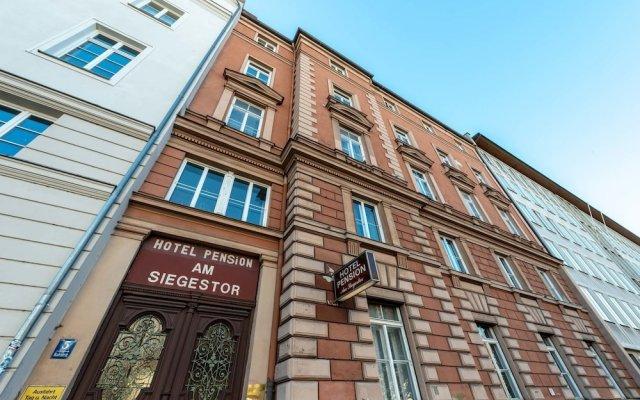 Hotel Pension am Siegestor Мюнхен вид на фасад