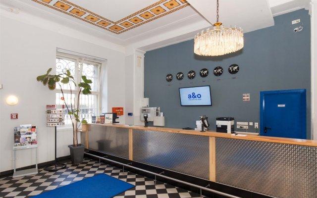 Отель A&o Leipzig Hauptbahnhof Лейпциг интерьер отеля