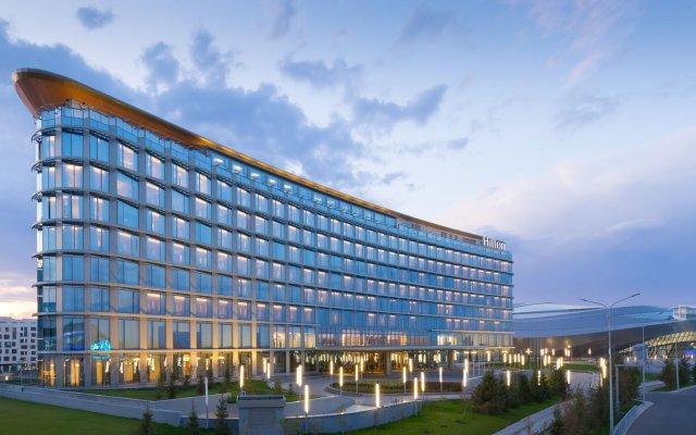 Гостиница Hilton Astana Казахстан, Нур-Султан - 3 отзыва об отеле, цены и фото номеров - забронировать гостиницу Hilton Astana онлайн вид на фасад