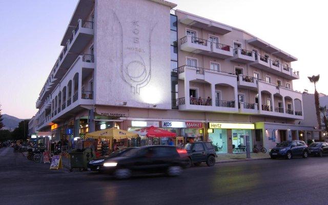 Отель Kos Hotel Junior Suites Греция, Кос - отзывы, цены и фото номеров - забронировать отель Kos Hotel Junior Suites онлайн вид на фасад