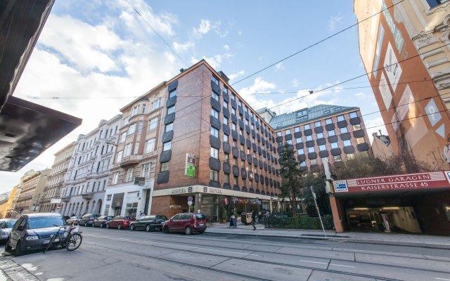 Отель Novum Hotel Kaffeemühle Австрия, Вена - 7 отзывов об отеле, цены и фото номеров - забронировать отель Novum Hotel Kaffeemühle онлайн вид на фасад