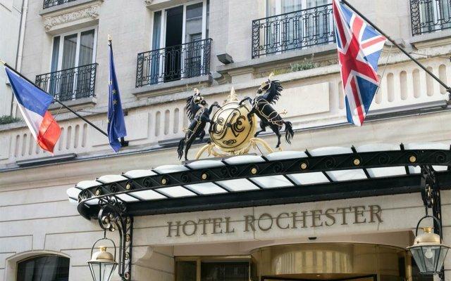 Отель Rochester Champs Elysees Франция, Париж - 1 отзыв об отеле, цены и фото номеров - забронировать отель Rochester Champs Elysees онлайн вид на фасад