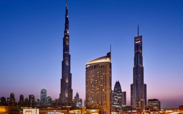 The Address, Dubai Mall Hotel вид на фасад