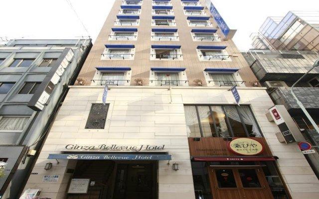 Отель Ginza Bellevue Hotel Япония, Токио - отзывы, цены и фото номеров - забронировать отель Ginza Bellevue Hotel онлайн вид на фасад