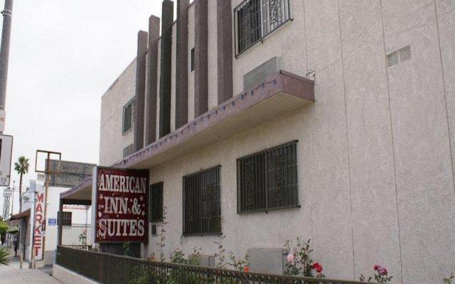 Отель American Inn & Suites LAX Airport вид на фасад