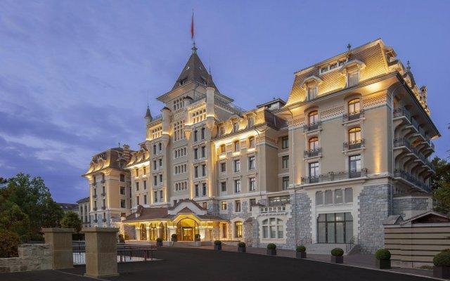 Отель Royal Savoy Lausanne вид на фасад