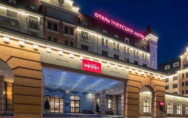 Гостиница Mercure Rosa Khutor (Меркюр Роза Хутор) вид на фасад