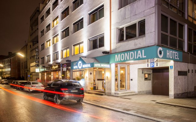 Centro Hotel Mondial Мюнхен вид на фасад
