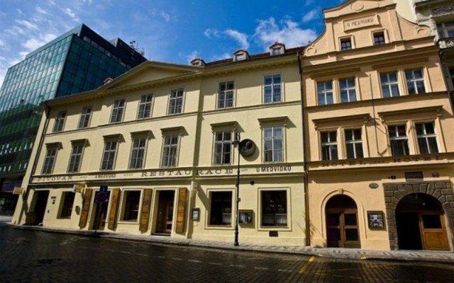 U Medvidku-Brewery Hotel вид на фасад