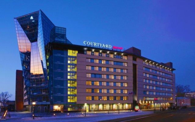 Отель Courtyard by Marriott Irkutsk City Center Иркутск вид на фасад