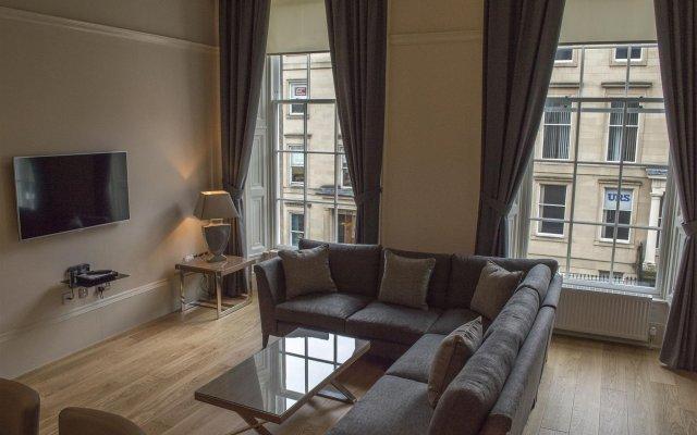 Отель Dreamhouse at Blythswood Apartments Glasgow Великобритания, Глазго - отзывы, цены и фото номеров - забронировать отель Dreamhouse at Blythswood Apartments Glasgow онлайн комната для гостей