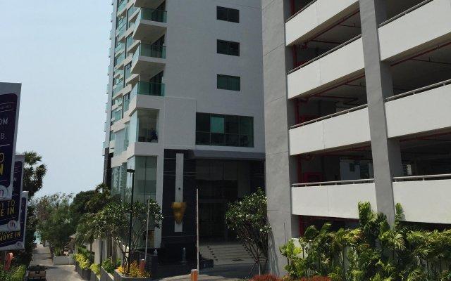 Апартаменты Wong Amat Tower By Liberty Group Apartment Паттайя вид на фасад