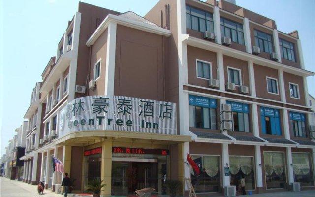 GreenTree Inn Suzhou Kunshan Hill Qiandeng Hotel вид на фасад