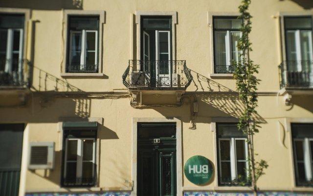 Hub Lisbon Patio Hostel Лиссабон вид на фасад