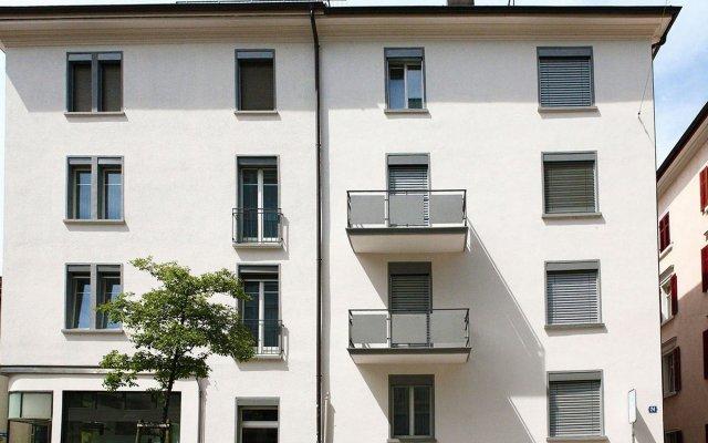 Отель Visionapartments Zurich Zweierstrasse Цюрих вид на фасад