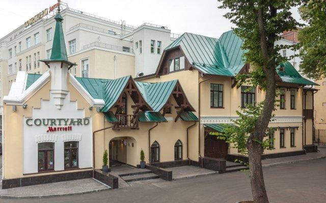 Гостиница Кортъярд бай Марриотт Нижний Новгород Сити Центр вид на фасад