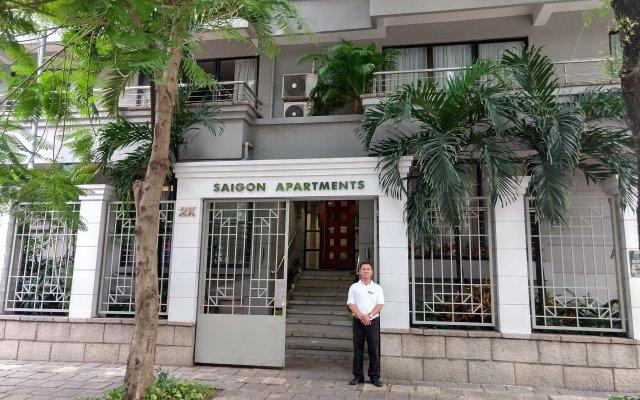 Апартаменты Saigon Apartments Хошимин вид на фасад