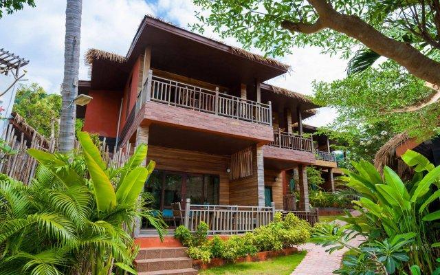 Отель Palm Leaf Resort Koh Tao вид на фасад
