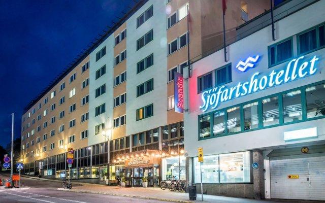 Отель Scandic Sjofartshotellet Стокгольм вид на фасад