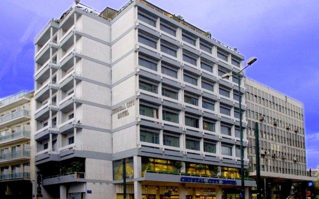 Отель Crystal City Афины вид на фасад