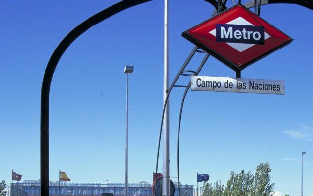 Отель Pullman Madrid Airport & Feria Мадрид вид на фасад