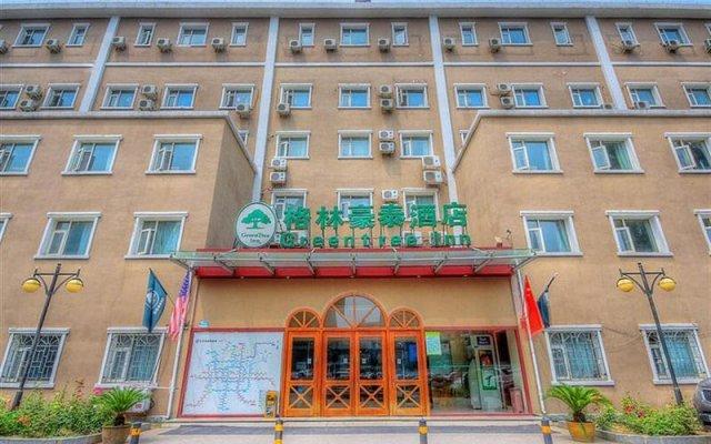 Отель GreenTree Inn BeiJing AnZhen Bird's Nest Business Hotel Китай, Пекин - отзывы, цены и фото номеров - забронировать отель GreenTree Inn BeiJing AnZhen Bird's Nest Business Hotel онлайн вид на фасад