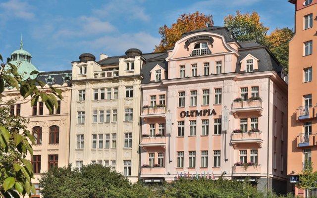 Hotel Olympia Карловы Вары вид на фасад