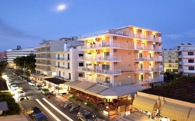 Отель Pearl Hotel Греция, Родос - отзывы, цены и фото номеров - забронировать отель Pearl Hotel онлайн вид на фасад