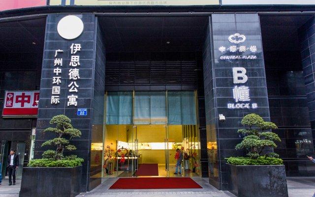 Отель Estay Residence Central Plaza Guangzhou Китай, Гуанчжоу - отзывы, цены и фото номеров - забронировать отель Estay Residence Central Plaza Guangzhou онлайн вид на фасад