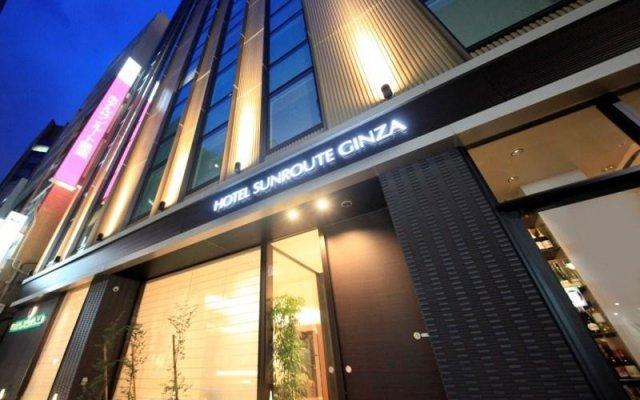 Отель Sunroute Ginza Япония, Токио - отзывы, цены и фото номеров - забронировать отель Sunroute Ginza онлайн вид на фасад