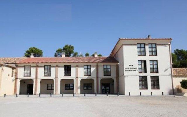 Hotel Santuario De Sancho Abarca Аблитас вид на фасад