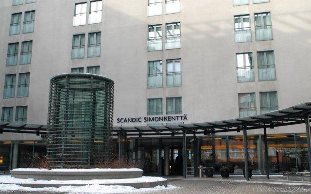 Отель Scandic Simonkentta Хельсинки вид на фасад