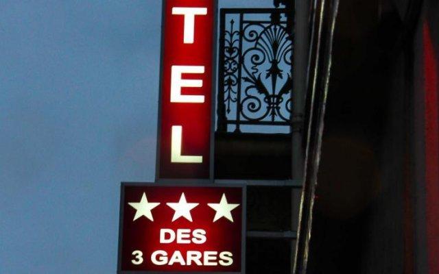 Отель Hôtel Des Trois Gares вид на фасад