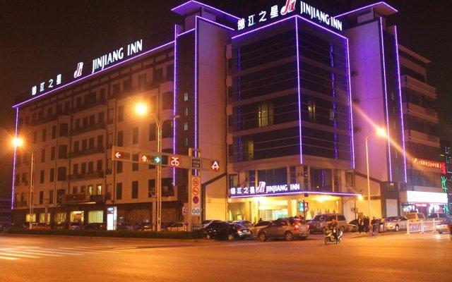 Отель Jinjiang Inn - Suzhou Wuzhong Baodai West Road Китай, Сучжоу - отзывы, цены и фото номеров - забронировать отель Jinjiang Inn - Suzhou Wuzhong Baodai West Road онлайн вид на фасад