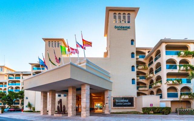 Отель Occidental Costa Cancún All Inclusive Мексика, Канкун - 12 отзывов об отеле, цены и фото номеров - забронировать отель Occidental Costa Cancún All Inclusive онлайн вид на фасад