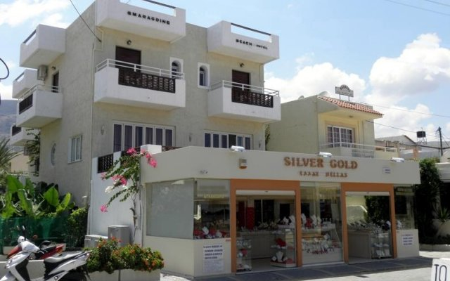 Smaragdine Beach Hotel вид на фасад