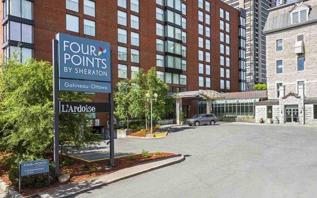 Отель Four Points by Sheraton Gatineau-Ottawa Канада, Гатино - отзывы, цены и фото номеров - забронировать отель Four Points by Sheraton Gatineau-Ottawa онлайн вид на фасад