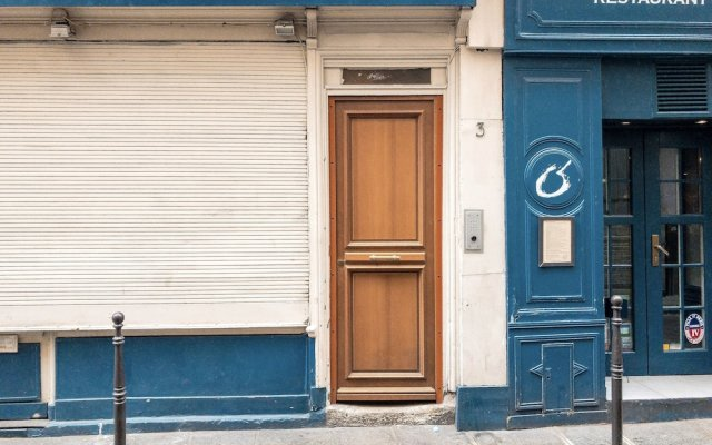 Апартаменты Studio Petit Pompidou Париж вид на фасад