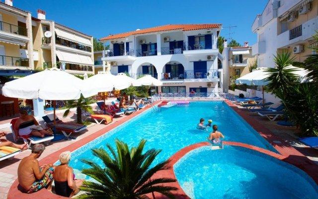 Отель Macedonia Sky Греция, Ханиотис - отзывы, цены и фото номеров - забронировать отель Macedonia Sky онлайн бассейн