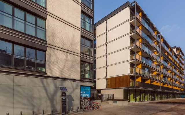 Апартаменты Chill Apartments Zoliborz вид на фасад
