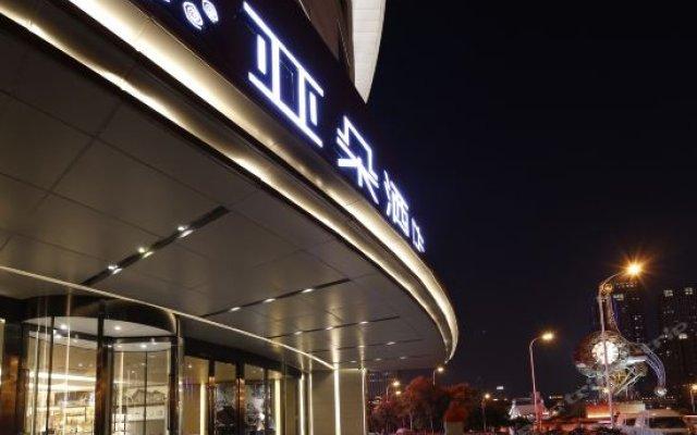 Отель Atour Hotel Tianjin Jinwan Square Китай, Тяньцзинь - отзывы, цены и фото номеров - забронировать отель Atour Hotel Tianjin Jinwan Square онлайн вид на фасад