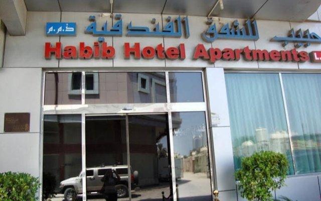 Отель Habib Hotel Apartment ОАЭ, Аджман - отзывы, цены и фото номеров - забронировать отель Habib Hotel Apartment онлайн вид на фасад