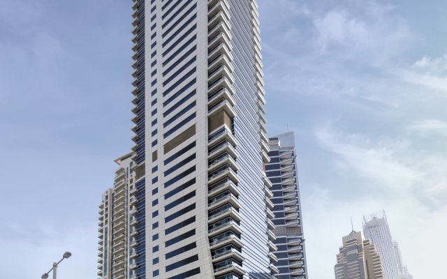 Отель Barcelo Residences Dubai Marina вид на фасад