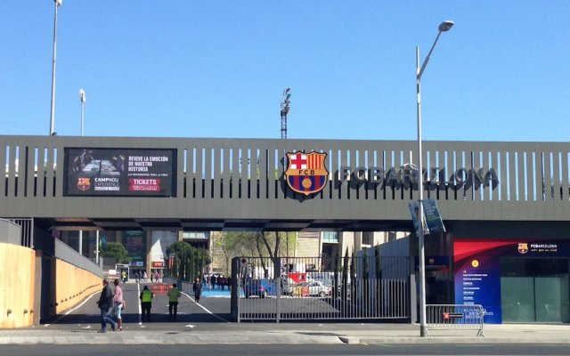 Апартаменты Espai Barcelona Camp Nou Apartment вид на фасад